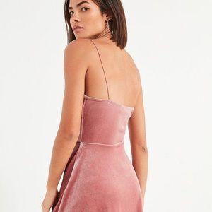UO Pink Velvet Dress XS